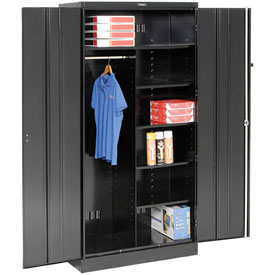 Tennsco Combination Industrial Storage Cabinet 1872 03 - 36x18x78 Black