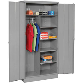 Tennsco Combination Industrial Storage Cabinet 1872 02 - 36x18x78 Medium Grey