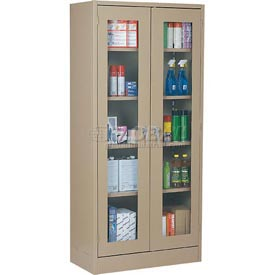 Sandusky Clear View Storage Cabinet CA4V362472 -36x24x72, Putty