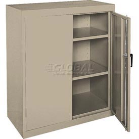 Sandusky Elite Series Counter Height Storage Cabinet EA22361842 - 36x18x42, Sand