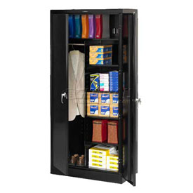 Tennsco Industrial Combination Storage Cabinet 7820 03 - 36x24x78 Black
