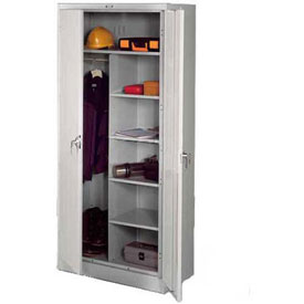 Tennsco Industrial Combination Storage Cabinet 7820 053 - 36x24x78 Light Grey