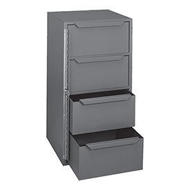 "Durham Bar-Lock Steel Drawer Cabinet - 12-9/16 X12X24-3/8"" - (4) 10-15/16 X10-3/4 X4-7/8"" Drawers"