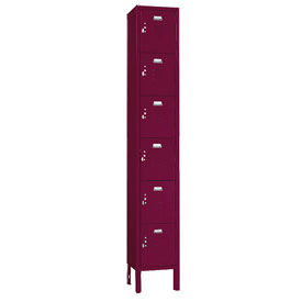 Penco 6367V-1-736KD VanGuard Locker Six Tier 12x15x12 6 Doors Ready To Assemble Burgundy