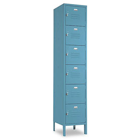 Penco 6365V-1806-SU Vanguard Locker Six Tier 12x12x12 6 Doors Assembled Marine Blue