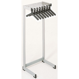 "36""W Floor Rack With 12 Hangers - Gray"