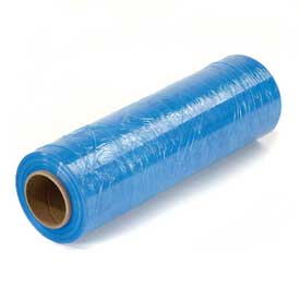 "Light Blue Stretch Wrap 18"" x 1500' x 80 Gauge - Pkg Qty 4"