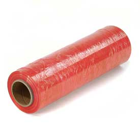 "Red Stretch Wrap 18"" x 1500' x 80 Gauge - Pkg Qty 4"