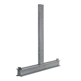 "Cantilever Rack Double Sided Upright, 59"" D x 12' H, 25200 Lbs Capacity"