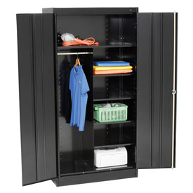 Tennsco Combination Metal Storage Cabinet 1472 03 - 36x18x72 Black