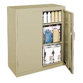 Sandusky Classic Series Counter Height Storage Cabinet CA21361842-04 - 36x18x42 Sand