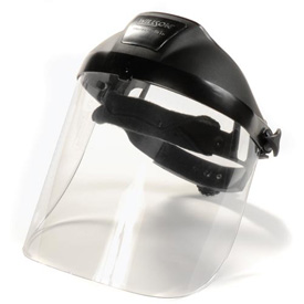 Ratchet Headgear With Polycarbonate Visor