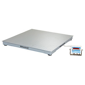 "Brecknell 48"" x 48"" Low Profile Digital Pallet Scale 10,000lb x 2lb"