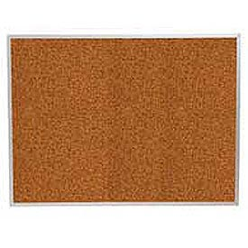 "Balt® Splash Cork Tackboard Aluminum Frame 60""W x 48""H Red"