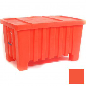 "Myton Forkliftable Bulk Shipping Container MTW-2 with Lid - 43""L x 26-1/2""W x 24""H, Orange"