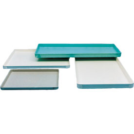 "Molded Fiberglass Toteline Conveyor/Assembly Tray 318001 -18""L x 14""W x 1""H, Green - Pkg Qty 12"