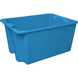 "Molded Fiberglass Toteline Nest and Stack Tote 780708 - 27-1'2"" x 20"" x 14-1/8"", Pkg Qty 5, Blue - Pkg Qty 5"