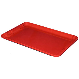 "Molded Fiberglass Toteline Nest and Stack Lid 780318 - 19-3/4"" x 12-1/2"", Pkg Qty 10, Red - Pkg Qty 10"