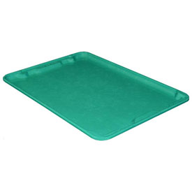 "Molded Fiberglass Toteline Nest and Stack Lid 780618 - 25-1/4"" x 18"", Pkg Qty 5, Green - Pkg Qty 5"