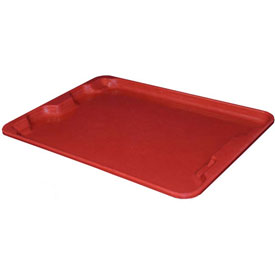 "Molded Fiberglass Toteline Nest and Stack Lid 780718 - 27-1/2"" x 20"",Pkg Qty 5, Red - Pkg Qty 5"