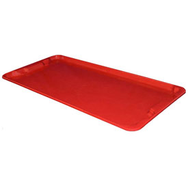 "Molded Fiberglass Nest and Stack Lid 780118 - 42-1/2"" x 20"", Red"