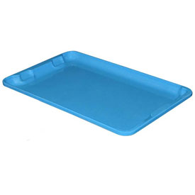 "Molded Fiberglass Toteline Nest and Stack Lid 780318 - 19-3/4"" x 12-1/2"", Blue - Pkg Qty 12"