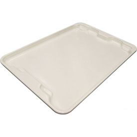 "Molded Fiberglass Toteline Nest and Stack Lid 780718 - 27-1/2"" x 20"", Pkg Qty 5, White - Pkg Qty 5"