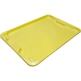 "Molded Fiberglass Toteline Nest and Stack Lid 780718 - 27-1/2"" x 20"", Pkg Qty 5, Yellow - Pkg Qty 5"
