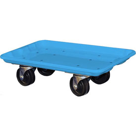 "Molded Fiberglass Toteline Dolly 780238 for 17-7/8"" x10""-5/8"" x 5"" Tote, Blue"