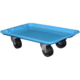 "Molded Fiberglass Toteline Dolly 780338 for 19-3/4"" x 12-1/2"" x 6"" Tote, Blue"
