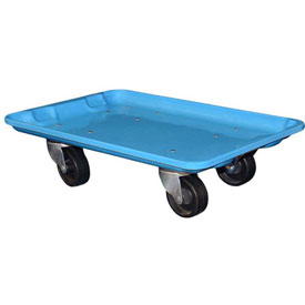 "Molded Fiberglass Toteline Dolly 780438 for 20-1/2"" x 12-7/8"" x 8"" Tote, Blue"