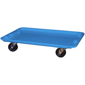"Molded Fiberglass Toteline Dolly 780538 for 24-3/8"" x 14-7/8"" x 8"" Tote, Blue"