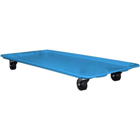 "Molded Fiberglass Toteline Dolly 780138 for 42-1/2"" x 20"" x 7-1/2"" Tote, Blue"
