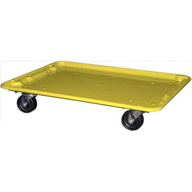 "Molded Fiberglass Toteline Dolly 780638 for 25-1/4"" x 18""x 10"" Tote, Yellow"