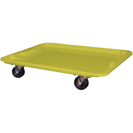 """Molded Fiberglass Toteline Dolly 780738 for 27-1/2 """" x 20"""" x 14-1/8"""" Tote, Yellow"""