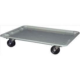 "Molded Fiberglass Toteline Dolly 780638 for 25-1/4"" x 18""x 10"" Tote, Gray"
