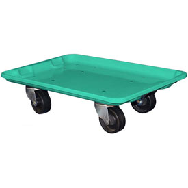 "Molded Fiberglass Toteline Dolly 780338 for 19-3/4"" x 12-1/2"" x 6"" Tote, Green"