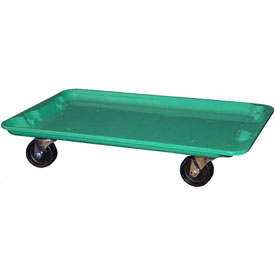 "Molded Fiberglass Toteline Dolly 780538 for 24-3/8"" x 14-7/8"" x 8"" Tote, Green"