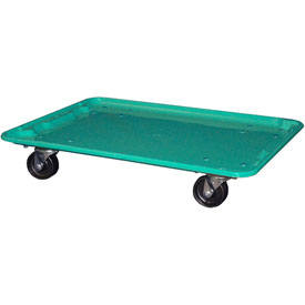 """Molded Fiberglass Toteline Dolly 780638 for 25-1/4"""" x 18""""x 10"""" Tote, Green"""