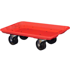 """Molded Fiberglass Toteline Dolly 780238 for 17-7/8"""" x10""""-5/8"""" x 5"""" Tote, Red"""