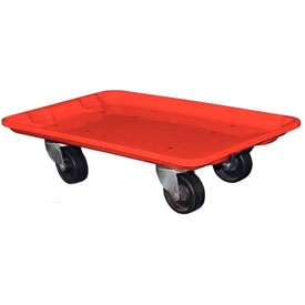 "Molded Fiberglass Toteline Dolly 780438 for 20-1/2"" x 12-7/8"" x 8"" Tote, Red"