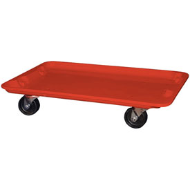 """Molded Fiberglass Toteline Dolly 780538 for 24-3/8"""" x 14-7/8"""" x 8"""" Tote, Red"""