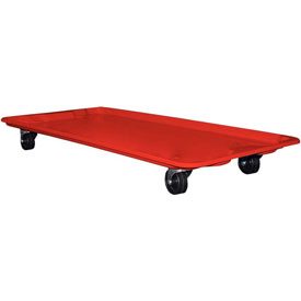 """Molded Fiberglass Toteline Dolly 780138 for 42-1/2"""" x 20"""" x 7-1/2"""" Tote, Red"""