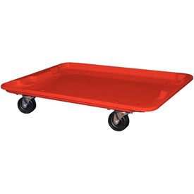 "Molded Fiberglass Toteline Dolly 780738 for 27-1/2 "" x 20"" x 14-1/8"" Tote, Red"