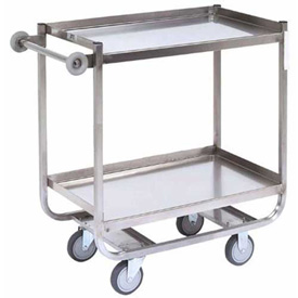 Jamco Stainless Steel Shelf Truck XF248 48x24 2 Shelves