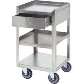 "Jamco Stainless Steel Mobile Stand XR118 18""L x 18""W x 35""H 800 Lb. with Drawer"