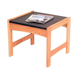 "Wooden Mallet End Table - 21-1/2"" x 20"" -  Medium Oak"