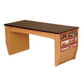 Coffee Table With Magazine Rack Medium Oak