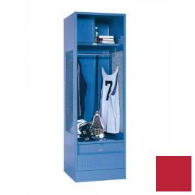 Penco 6WFD63-767 Stadium® Locker With Shelf Security Box & Footlocker 33x24x76 Red All Welded