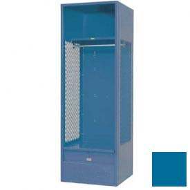 Penco 6KFD32-806 Stadium® Locker With Shelf & Footlocker, 24x24x72, Marine Blue, Unassembled